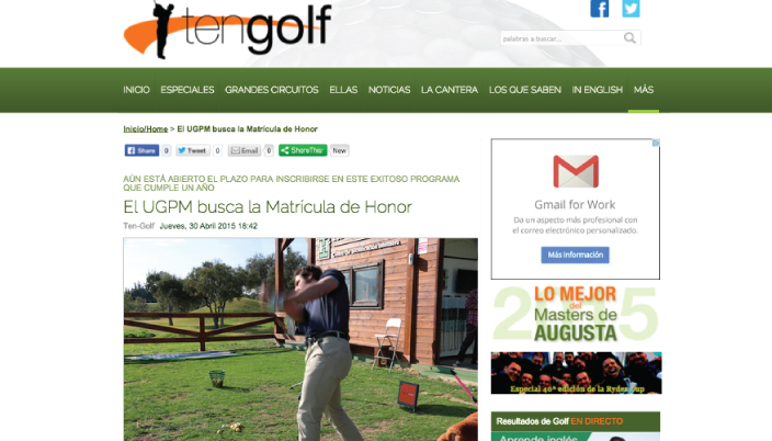 Ten-Golf y su apoyo a UGPM
