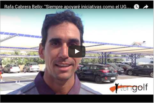 Rafa Cabrera Bello habla sobre UGPM en Ten-Golf