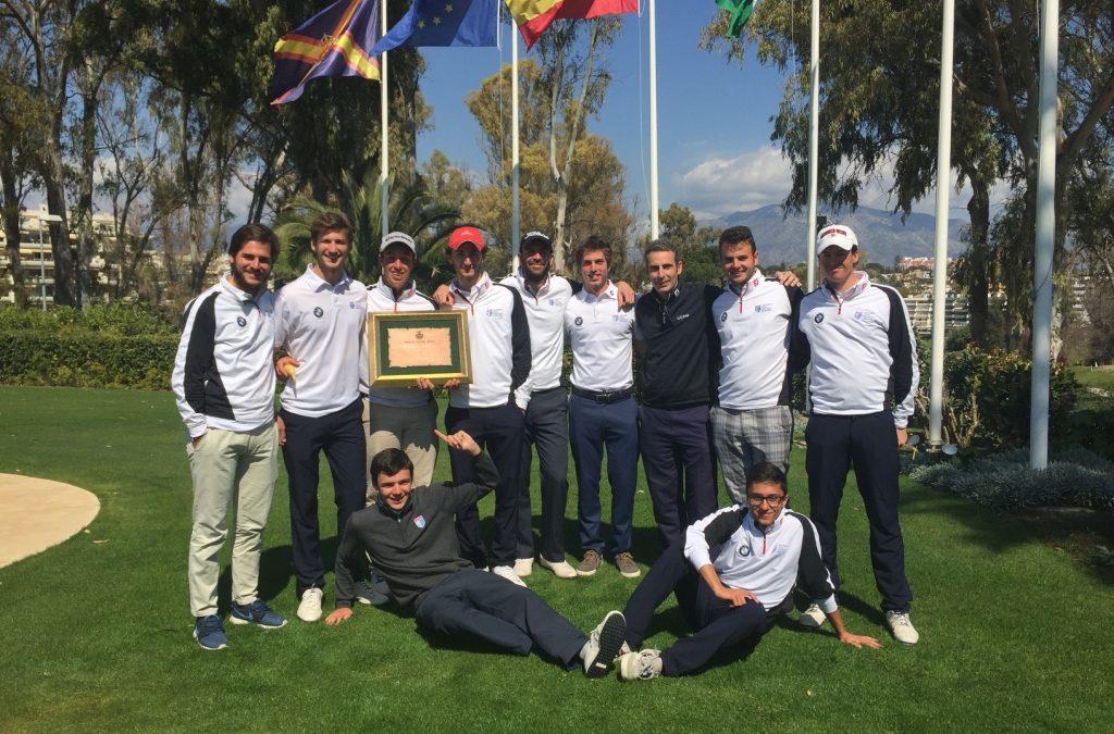 UGPM se impone en el enfrentamiento contra la Real Federación Andaluza de Golf