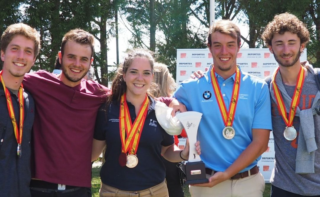 Victor Pastor and the University of Málaga-UGPM runners-up in the Spanish University Golf Championship 2016