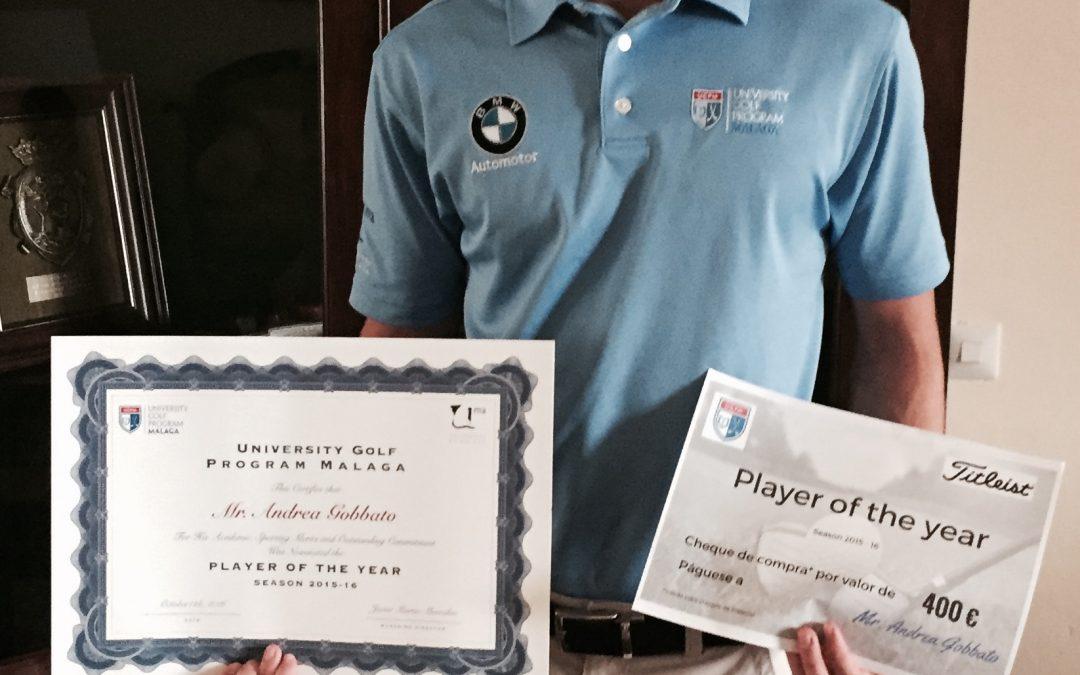 Andrea Gobbato gana el Player of the Year Award 2015-16