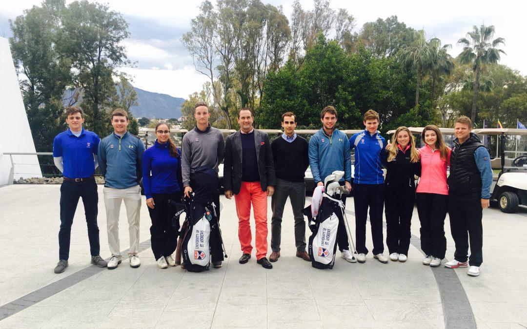 El equipo de golf de la prestigiosa Universidad de St. Andrews visita el Real Club de Golf Guadalmina
