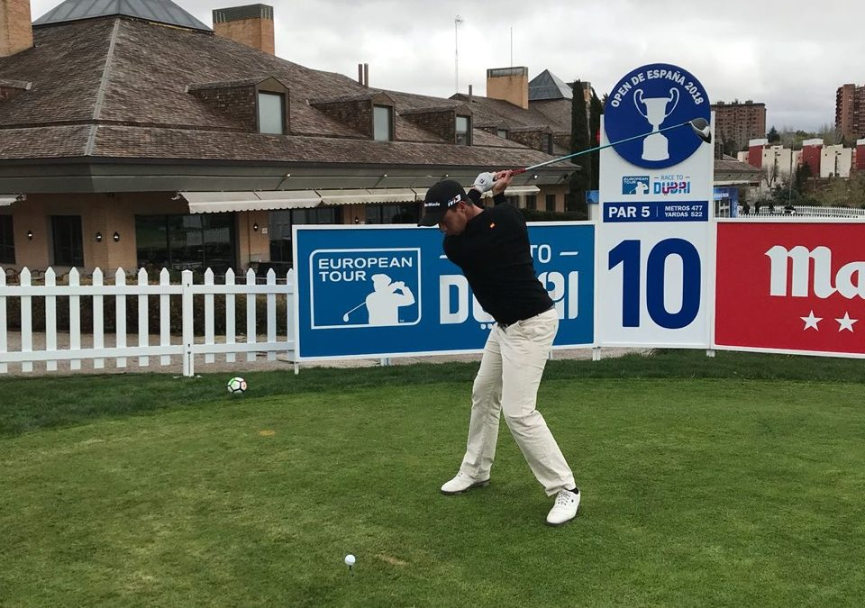 Víctor Pastor debuting in the European Tour, at the Spanish Open
